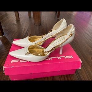 fornarina Shoes - Italy White Calf Leather High Heel Shoes 38